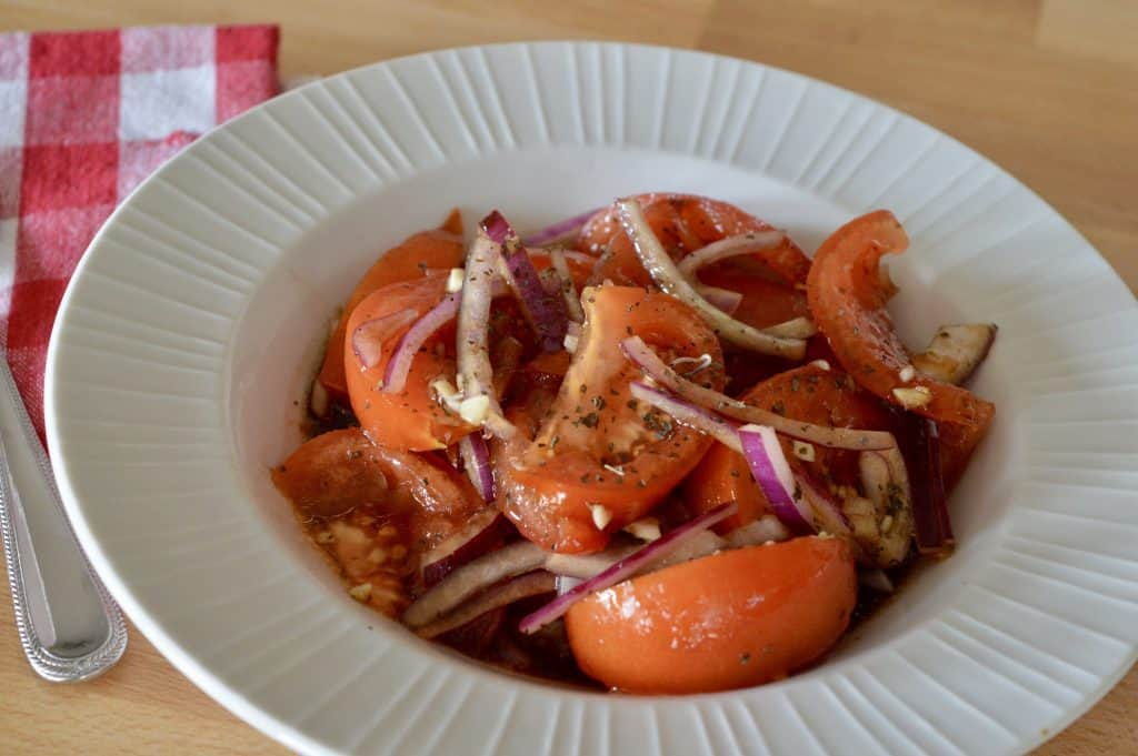 Italian Tomato Onion Salad makes a delicious Italian Easter Recipe.