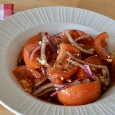 Italian Tomato Onion Salad | Balsamic Vinegar
