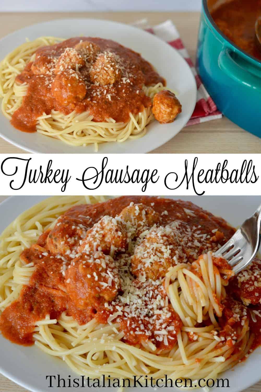 Italian turkey sausage meatballs