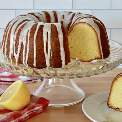 Olive Oil Bundt Cake | Lemon Honey Glaze