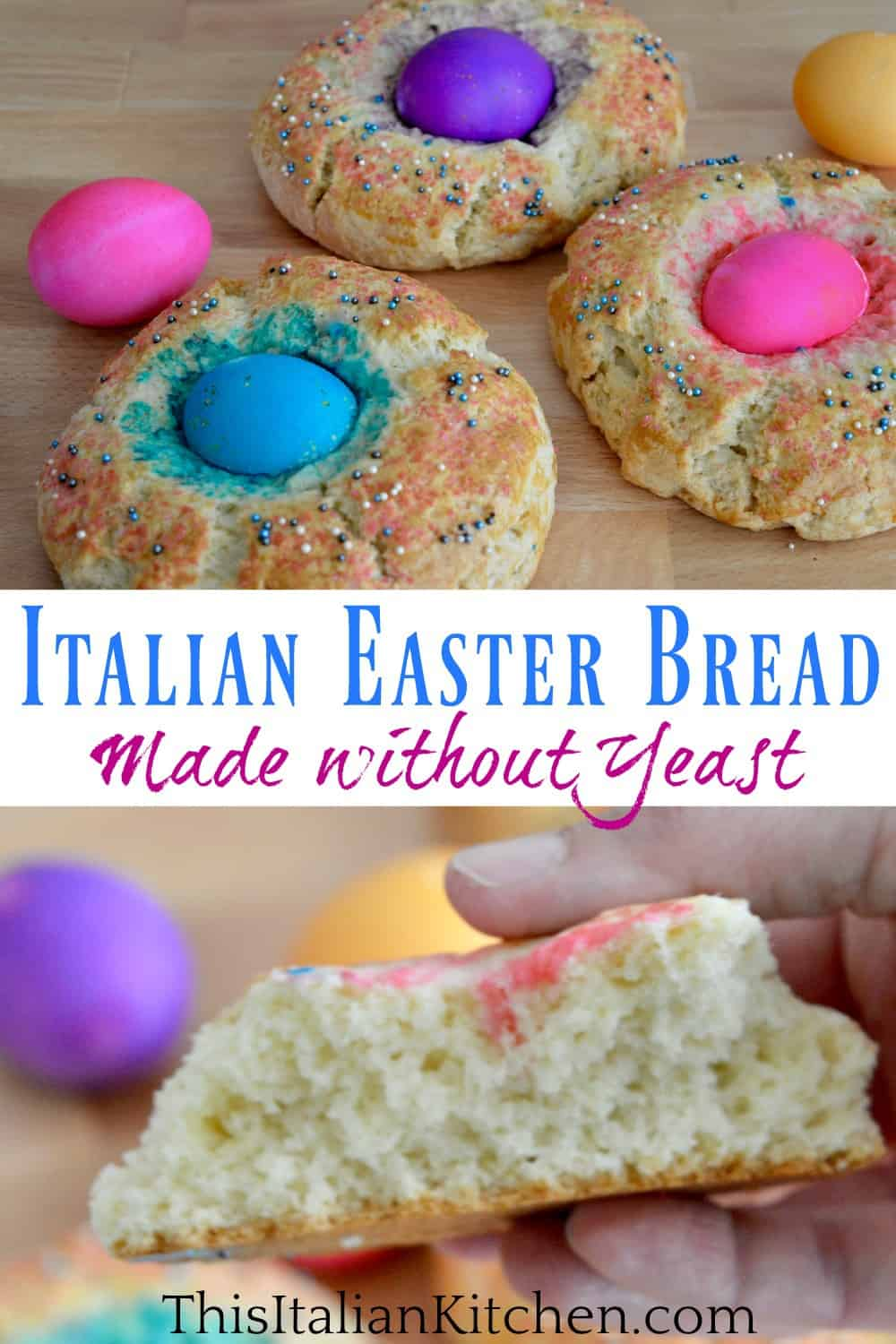 Italian easter bread without yeast.