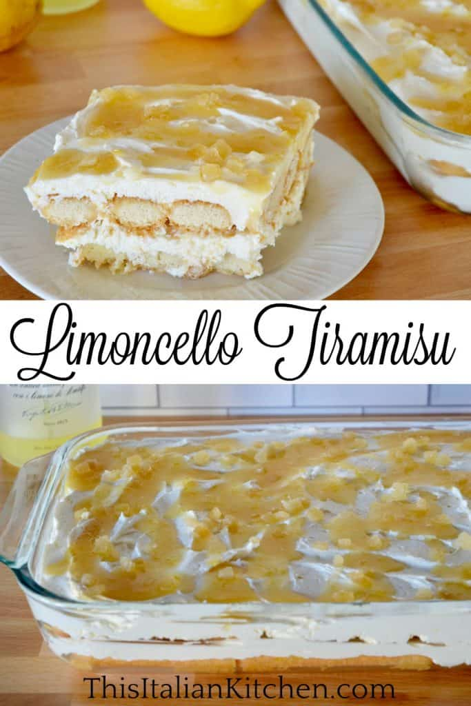 Limoncello Tiramisu pinterest pin.