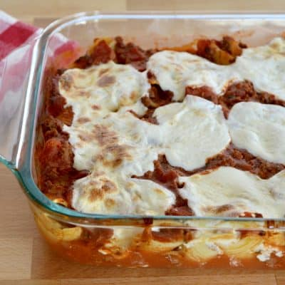 Cheese Beef Stuffed Shells | Homemade Meat Sauce