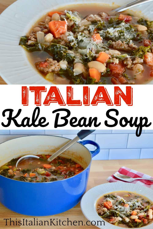 Tuscan Kale Bean Soup pinterest pin.