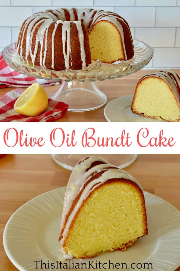 Olive Oil bundt cake Pinterest pin.