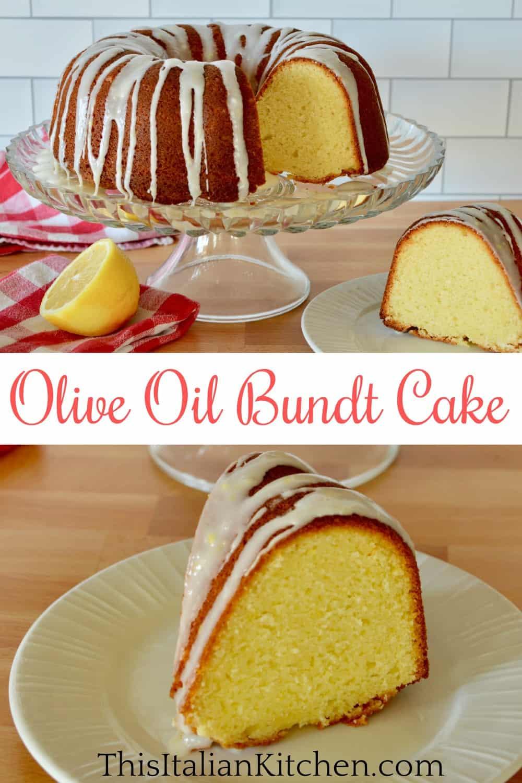 Olive Oil bundt cake Pinterest pin.