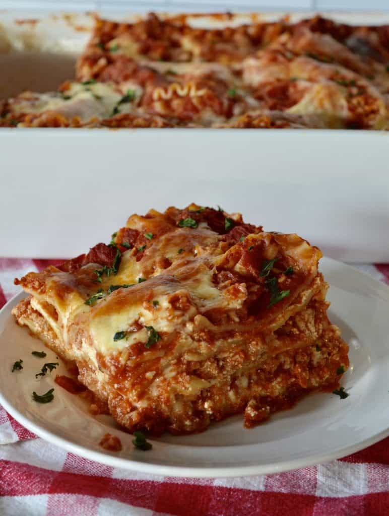 Italian Turkey Lasagna.