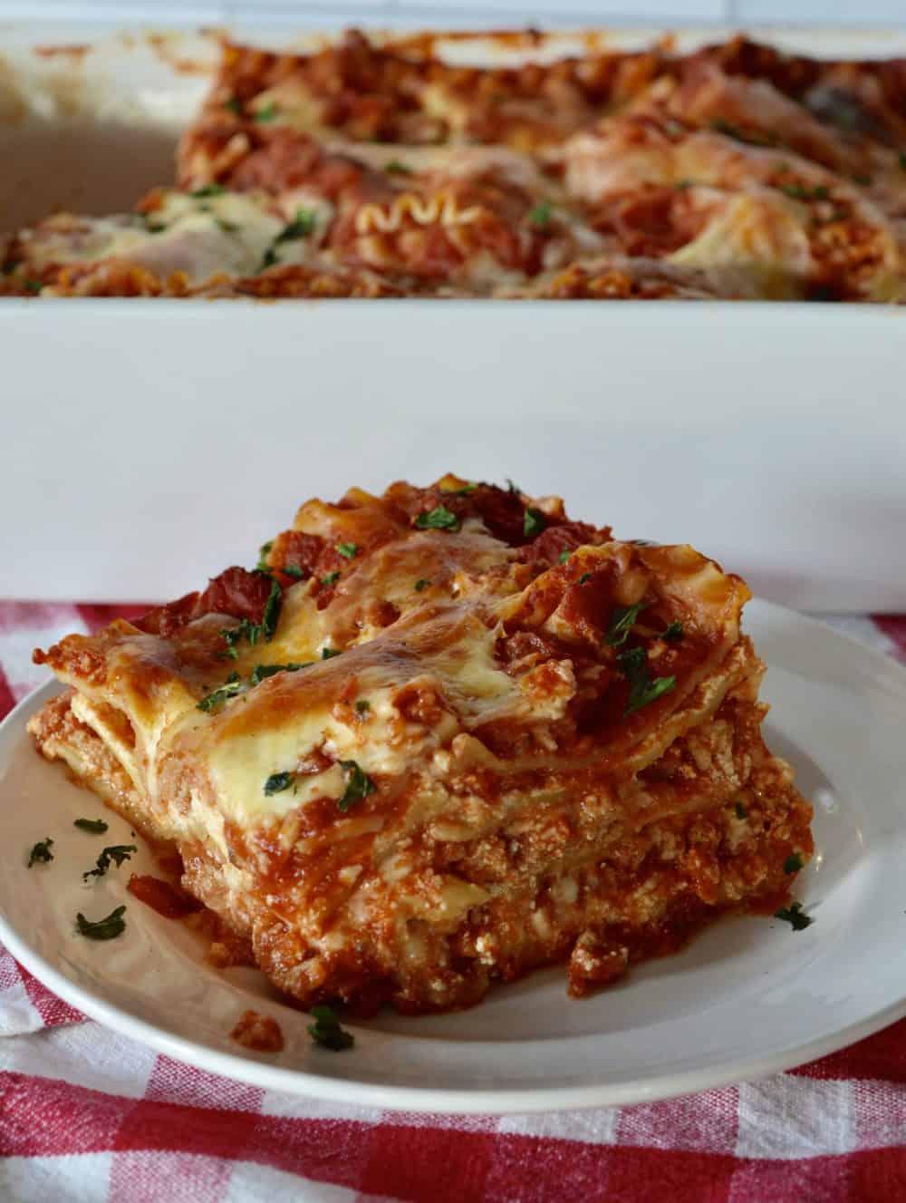 Italian Turkey Lasagna.