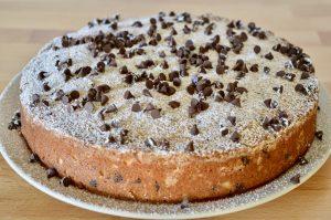 powdered sugar sprinkled on dessert.