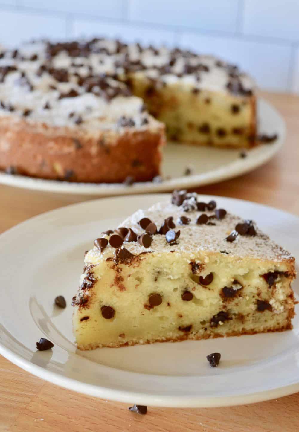 Chocolate Chip Ricotta Cake.