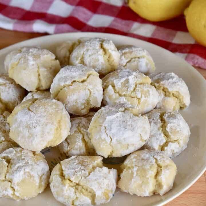 Lemon Amaretti Cookies