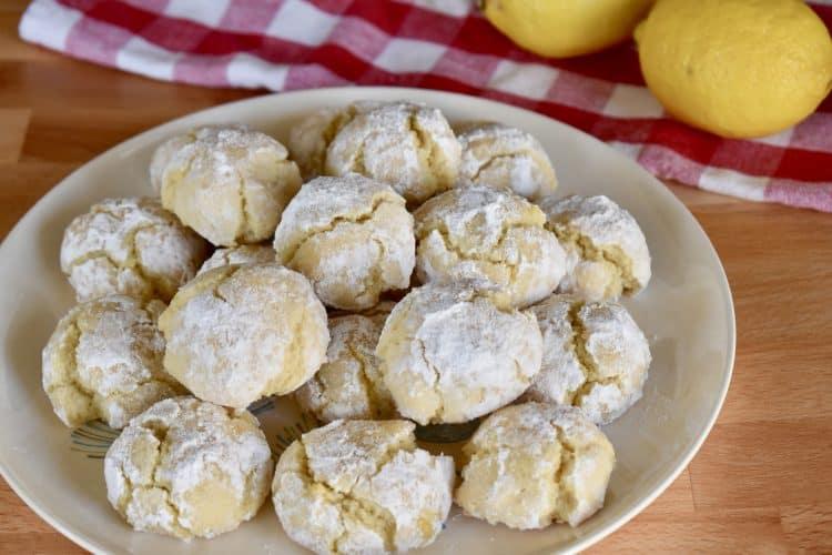 Lemon Amaretti Cookies | The BEST Italian Cookies