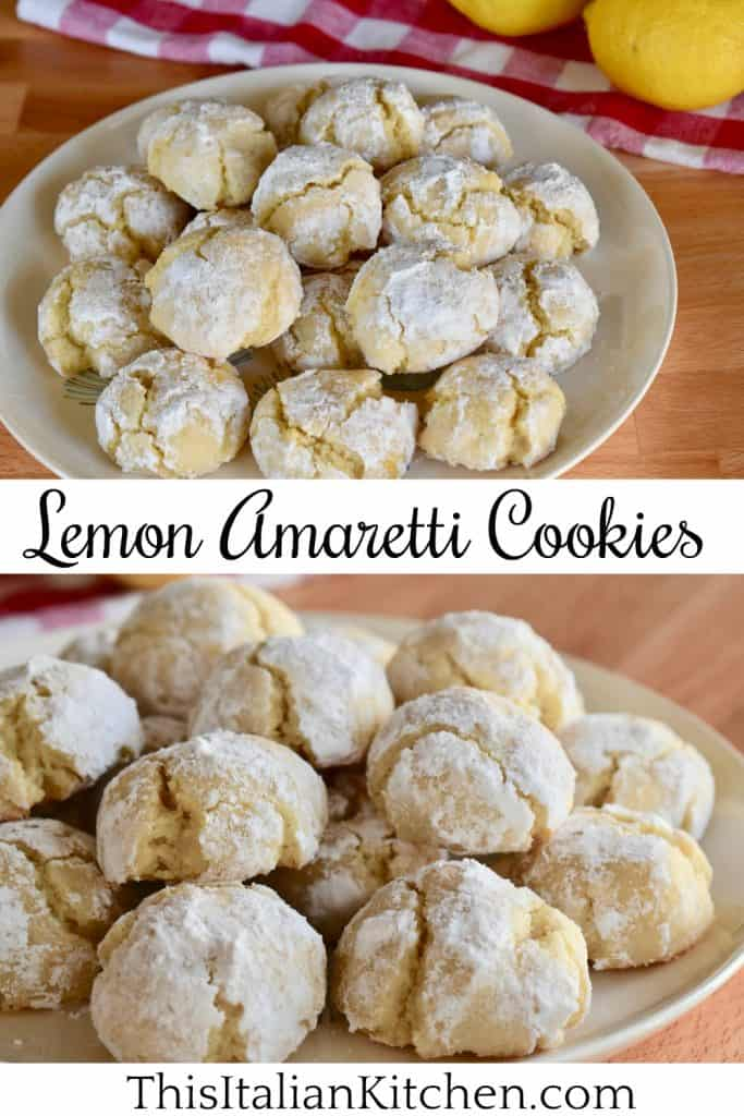 Lemon Amaretti Cookies.