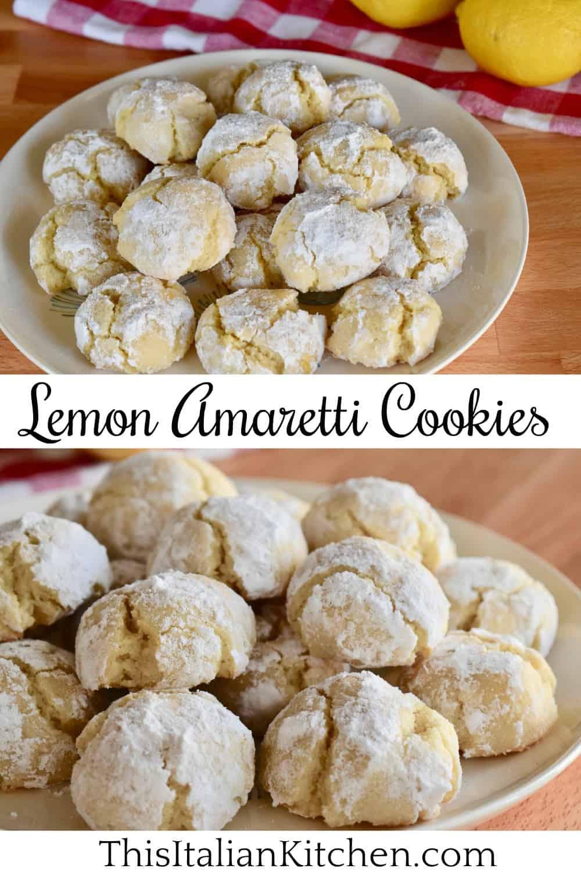 Lemon Amaretti Cookies.