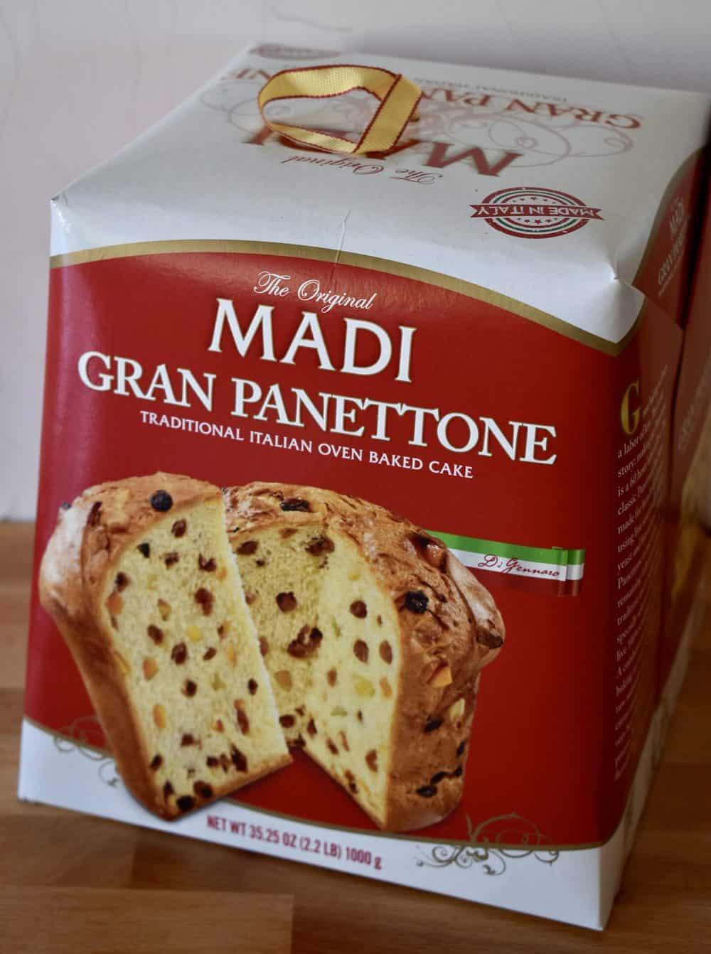 Box of Madi Gran Panettone.