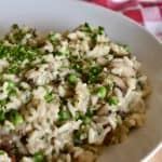 Mushroom Pea Risotto