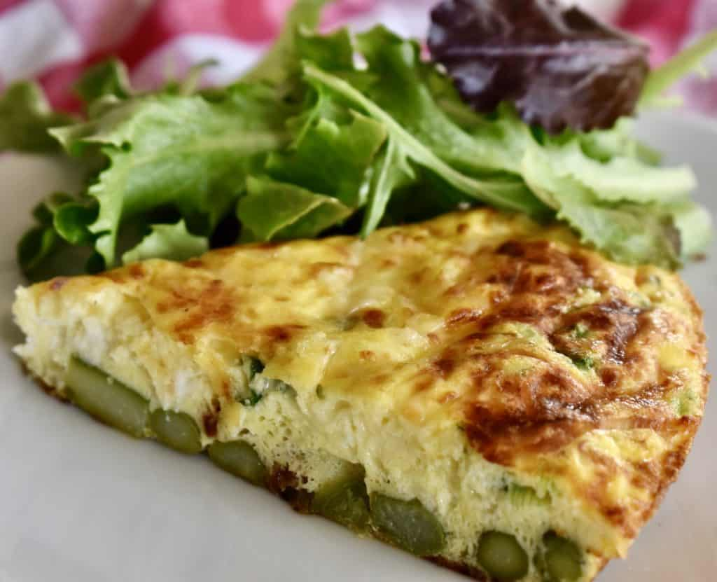 Asparagus Ricotta Frittata is great for Italian Easter recipe.