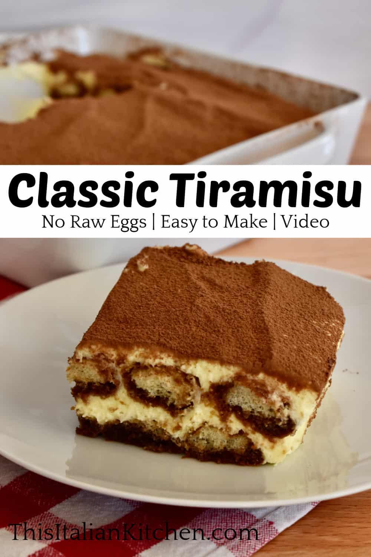 Classic Tiramisu Recipe.